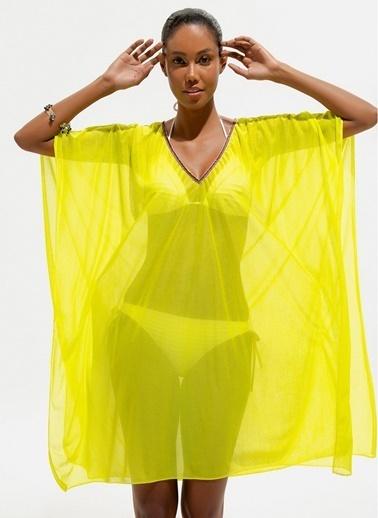 Loves You Plaj Elbisesi Sarı